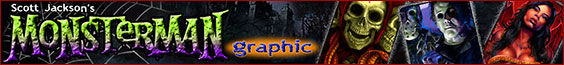 website of Horror artist Scott Jackson Monsterman Graphic